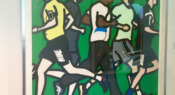 Julian Opie Running Men.