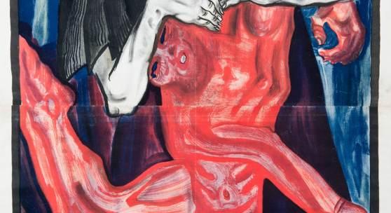 """Oskar Kokoschka Pietà, 1909 Plakat für die """"Kunstschau Wien"""" Farblithografie 122 x 79,5 cm Museum der Moderne Salzburg © Fondation Oskar Kokoschka/Bildrecht, Wien 2015"""