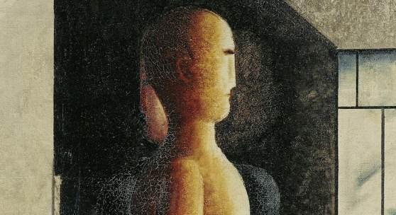 Oskar Schlemmer, Akt, Frau und Kommender, 1925, Öl auf Leinwand (Detail) © Staatliche Museen zu Berlin, Nationalgalerie / Jörg P. Anders