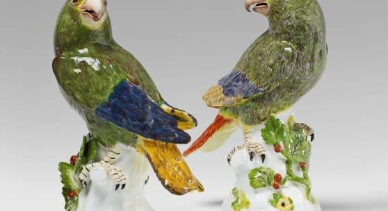 Zwei Papageien großer Sorte Lot 987 Schätzpreis: €40.000 - €50.000 Ergebnis: €49.600