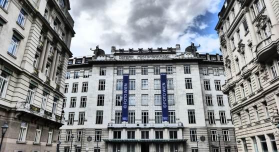 Ansicht Otto Wagners Postsparkasse (c) findART.cc Foto frei von Rechten.