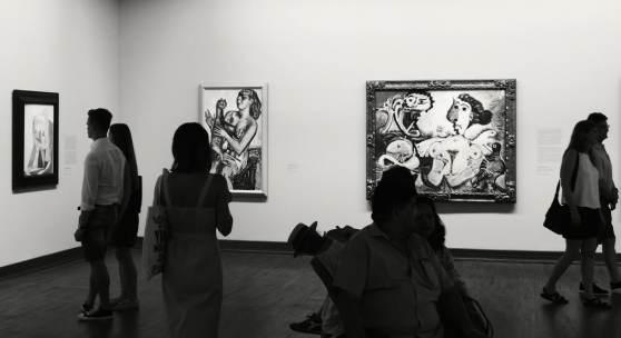 """Ausstellungsansicht """"Monet bis Picasso. Die Sammlung Batliner"""" September 2019 (c) findART.cc Foto frei von Rechten."""