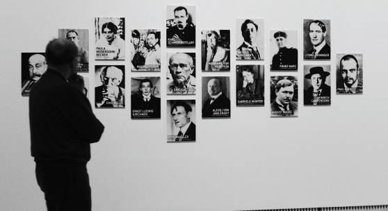 """Ausstellungsansicht """"Deutscher Expressionismus"""" Porträt: Emil Nolde, Max Pechstein, Ernst Ludwig Kirchner, Erich Heckel, Wassily Kandinsky, Alexej von Jawlensky, Marianne von Werefkin, August Macke, Franz Marc, Paula Modersohn-Becker, Paul Klee und Lionel Feininger. 2019 (c) findART.cc Foto frei von Rechten."""