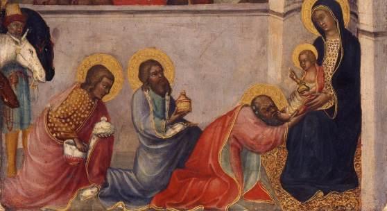 Paolo di Giovanni Fei (um 1345–um 1411), Anbetung der Heiligen Drei Könige, um 1395–1400, Lindenau-Museum Altenburg, Foto: Bernd Sinterhauf © Lindenau-Museum Altenburg