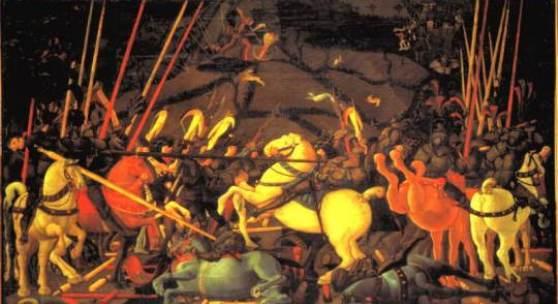 Paolo Uccello, La battaglia di San Romano, 1435, Galleria degli Uffizi, Firenze  Marisa Capra, Gianna Condreras, Giorgio Marco Udini ITI Cobianchi - Verbania. Bildnachweis: areeweb.polito.it