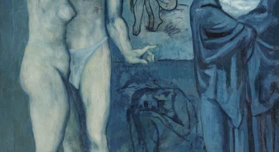 PABLO PICASSO, LA VIE, 1903 Öl auf Leinwand, 197 x 127,3 cm The Cleveland Museum of Art, Schenkung Hanna Fund © Succession Picasso / 2018, ProLitteris, Zürich Foto: © The Cleveland Museum of Art