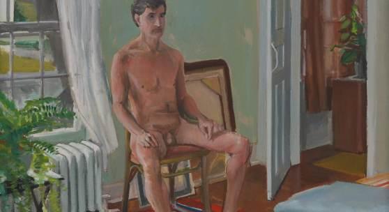 Patrick Angus, Portrait of Rob Stuart 1990, Acryl auf Leinwand, 52 x 61,5 cm © Douglas Blair Turnbaugh