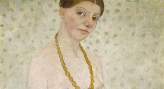Paula Modersohn-Becker, Selbstbildnis am 6. Hochzeitstags, 25. Mai 1906, Museen Böttcherstraße, Paula Modersohn-Becker Museum, Bremen
