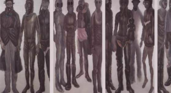 "Jiři Petrbok ""Nuclear Years"", 1998 Öl/Leinwand 245 x 490 cm"