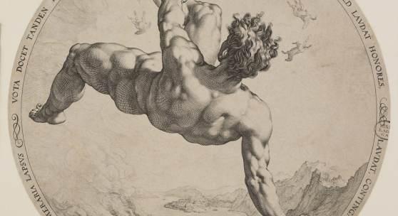 Hendrick Goltzius, nach Cornelis Cornelisz. van Haarlem, Phaeton, 1588, Kunstsammlung der Georg-August-Universität Göttingen, Foto: Katharina Anna Haase 2020