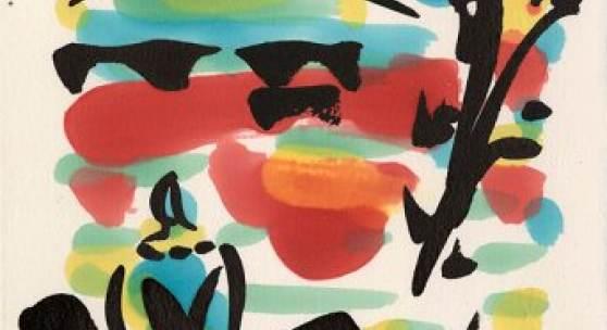 Corona 1 - Meditation Alkoholfarbe / japanische Tusche monogrammiert 30 x 20 cm
