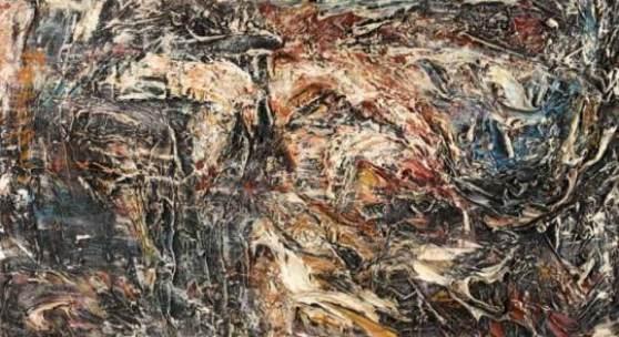 Night in the Woods Öl auf Leinwand signiert, 1959 62 x 102 cm