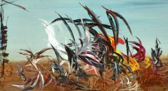 Soshana Afroyim, Brazil I. Öl auf Leinwand signiert, 1961 98 x 196 cm
