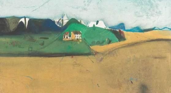 Giselbert Hoke  Colloredo, 1984  Gouache/Papier 50 x 65,5 cm  signiert Hoke, datiert 1984 beschriftet Colloredo Preis: € 12.500,- Bestellen