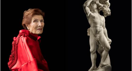 Pictured from left to right: Portrait of Hester Diamond, Credit: Carla van de Puttelaar for the portrait project: Artfully Dressed: Women in the Art World; Pietro and Gian Lorenzo Bernini's Autumn, estimate $8/12 million