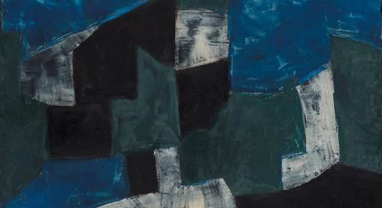 Serge Poliakoff Composition abstraite, 1959 Öl auf Leinwand 60 x 73 cm Kunstsammlungen Chemnitz-Museum Gunzenhauser, Eigentum der Stiftung Gunzenhauser, Chemnitz Foto: PUNCTUM/Bertram Kober © VG Bild-Kunst, Bonn 2021