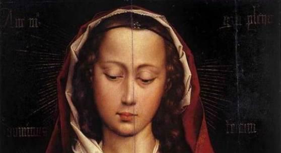 """Weyden, Rogier van der  Portrait Diptych of Laurent Froimont (Left Wing) Renaissance   Das Gemälde """"Portrait Diptych of Laurent Froimont (Left Wing)"""" von Rogier van der Weyden als hochwertige, handgemalte Ölgemälde-Replikation. (c) www.oel-bild.de"""