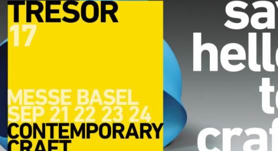 Plakat TRESOR contemporary craft 2017