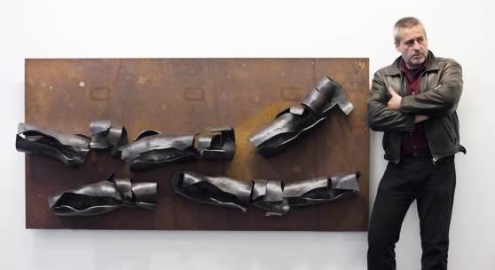 """Florian Schaumberger, Tafelbild """"battered 4"""" © Andrea Peller"""