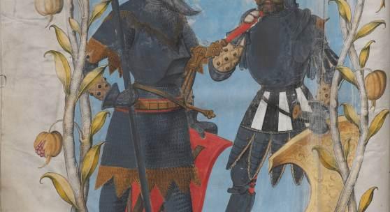 """Illustration aus dem """"Ambraser Heldenbuch"""" © Österreichische Nationalbibliothek"""