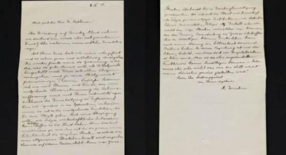 Eigenhändiger Brief von Albert Einstein an Walther Rathenau vom 8. März 1917