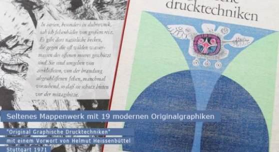 Seltenes Mappenwerk mit 19 modernen Orginalgraphiken