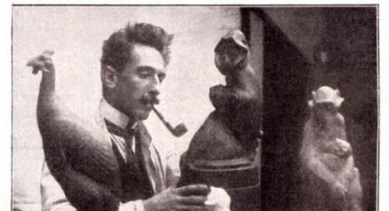 Anton Puchegger in seiner Werkstatt Historische Fotografie Aus: Velhagen & Klasings Monatshefte 32 (1917/18), S. 107