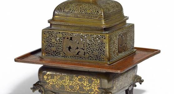 Elegantes Räuchergefäß China | Qing-Dynastie Kupfer; Bronze | H. 41,5cm Ergebnis: 96.000€