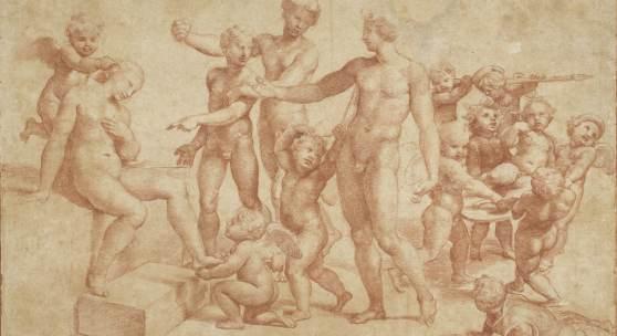 raffael die hochzeit von alexander und roxane- um 1517 albertina wien