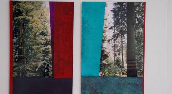 Bild 41+42: Ralf Bittner, Wald 5, Wald 6, überarbeitete Fotos auf Aludibond, 2020, Unikate, 40&60 cm. Je 550 €.