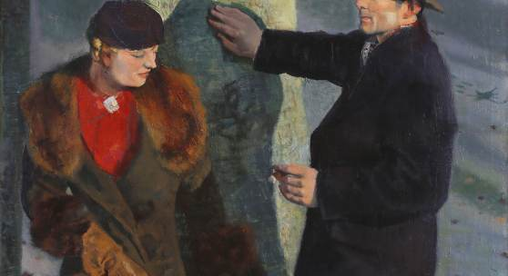 Reinhold Ewald: Bertel Ewald und Louis Wahn, um 1940 Öl auf Leinwand, 106 x 112,3 cm Privatbesitz Foto: Uwe Dettmar, Frankfurt a. M.