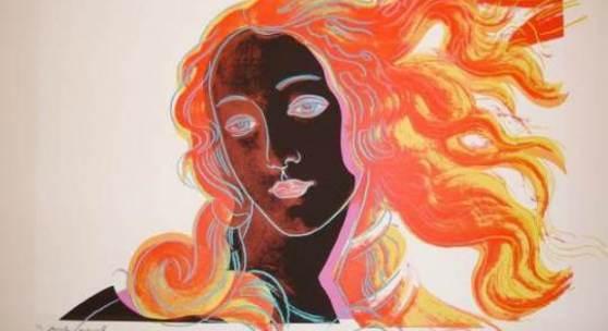 Andy Warhol Birth of Venus II.318 Courtesy of AC Fine Art, Miami