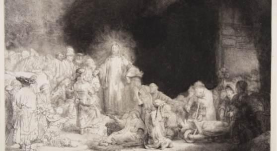 Rembrandt van Rijn, Das Hundertguldenblatt um 1647/49 © Staatliche Schlösser, Gärten und Kunstsammlungen Mecklenburg-Vorpommern