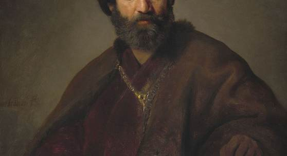 Rembrandt Harmensz van Rijn und Werkstatt: Mann in orientalischem Kostüm, um 1635, National Gallery of Art, Washington, Andrew W. Mellon Collection