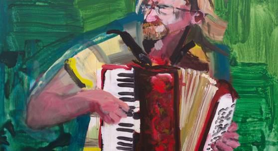 Rainer Fetting, Musikant von Westerland 2019, Acryl auf Leinwand, 140 x 100 cm