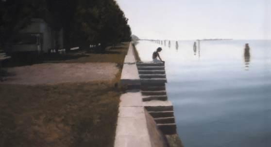Gerhard Richter, Venedig (Treppe), 1985 Öl auf Leinwand, 50 × 70 cm Art Institute of Chicago, Schenkung Edlis Neeson Collection; Foto: bpk / The Art Institute of Chicago / Art Resource, NY