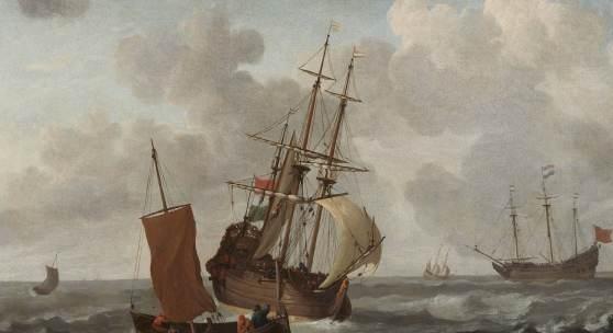 Jan Claesz Rietschoof Schiffe auf bewegter See Öl auf Leinwand, 59 x 75 cm Taxe:  12.000 – 14.000 Euro