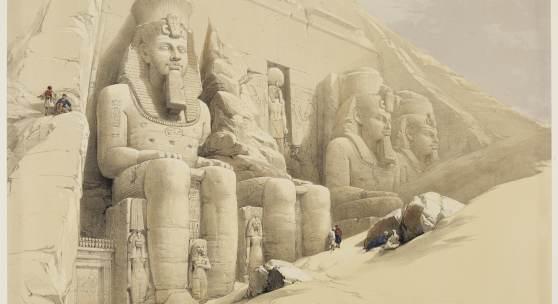 Louis Haghe nach David Roberts  Der Tempel von Abu Simbel, aus: Egypt and Nubia, 1846–1849  © bpk / Staatliche Kunsthalle Karlsruhe