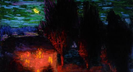 Roderic O'Conor, A Moonlit Breton Landscape
