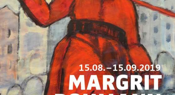 "Plakat Ausstellung ""Margrit Rohmann - RetrospektiveRohmann"" Der Soldat 1920"