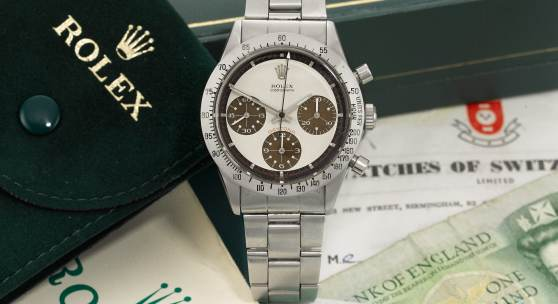 "Rolex 'Paul Newman' Daytona with ""Tropical"" Dial, 1968 Estimate: CHF 200,000 – 400,000"