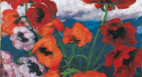 """Großer Mohn (rot, rot, rot)"""", Gemälde 1942, © Nolde Stiftung Seebüll"""