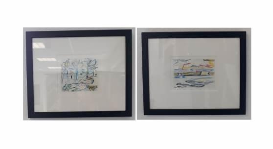 Die Ausstellung GRÜN kommt zu Ihnen nach Hause: Bild 3+4: Roy Lichtenstein