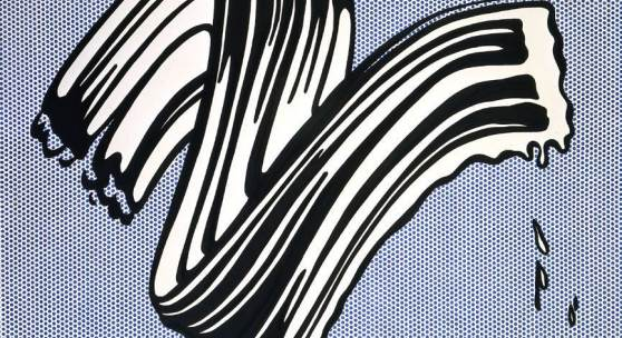 Roy Lichtenstein White Brushstroke I Executed in 1965 Oil and Magna on canvas
