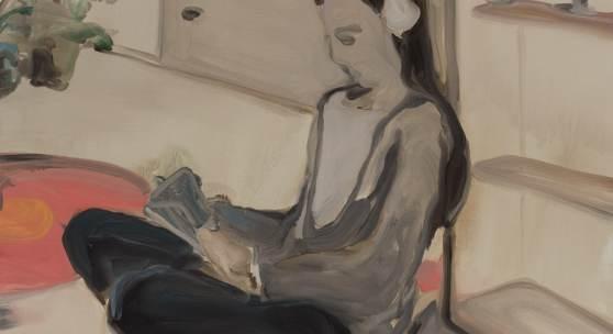 Rudy Cremonini, The New Bedroom 2017, Öl auf Leinwand, 110 x 90 cm