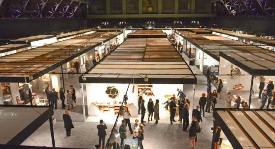 The view from above at the opening night party of the 2015 Salon Art + Design fair. Photo: Madison/BFA.com