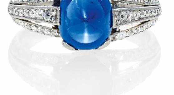 Saphir-Diamant-Ring England Um 1900 Saphir ca. 2,3 Karat Ergebnis: 36.120 Euro
