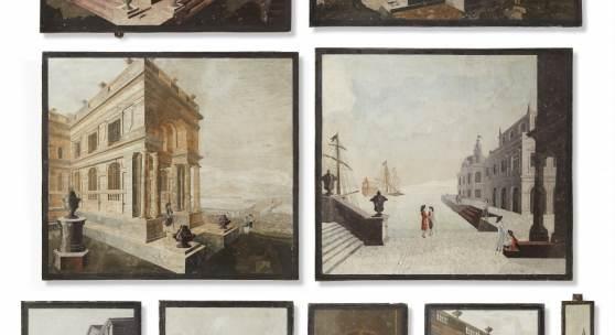 Scagliola-Paneele. Don Enrico Hugford (Livorno 1695 – 1771 Florenz)