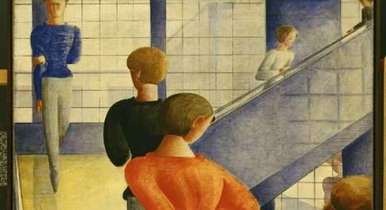 Oskar Schlemmer, Bauhaustreppe, 1932, Öl auf Leinwand, The Museum of Modern Art, New York, Schenkung Philip Johnson, © 2014 Digital Image, The Museum of Modern Art, New York / Scala, Florence