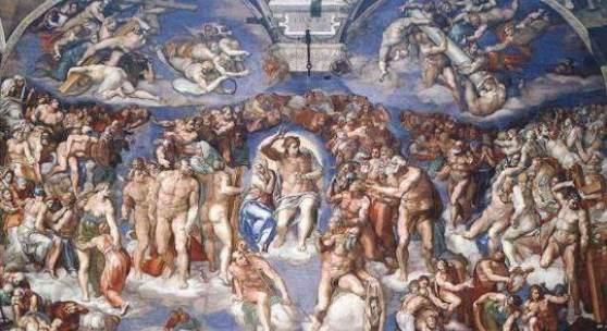 """Renaissance; Kunst, Malerei- Naturalismus, Michelangelo Buonarroti """"Schoepfungsgeschichte"""" von """"Michelangelo Buonarroti"""" als hochwertige, handgemalte Ölgemälde-Replikation. Quelle: www.oel-bild.de"""